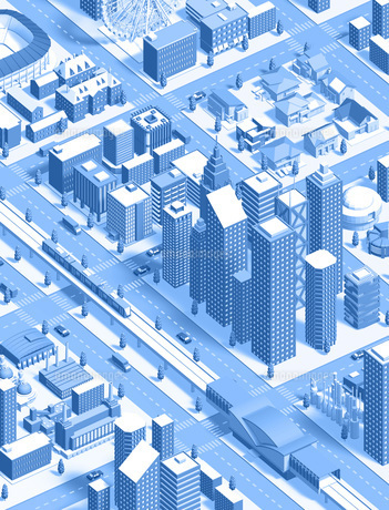 isometric city newblueのイラスト素材 [FYI04740603]