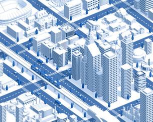city isometric new2 darkblueのイラスト素材 [FYI04740604]