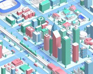 isometric city new2のイラスト素材 [FYI04740609]