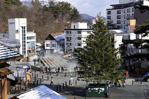 草津温泉湯畑のクリスマスツリーの写真素材 [FYI04740630]