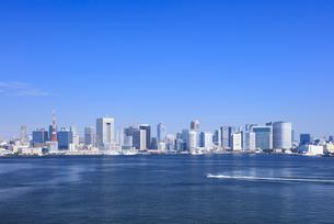 東京タワーと東京湾岸の街並みの写真素材 [FYI04740882]