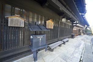 妻籠宿 黒ポストの写真素材 [FYI04740977]
