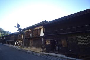 中山道妻籠宿の写真素材 [FYI04741008]