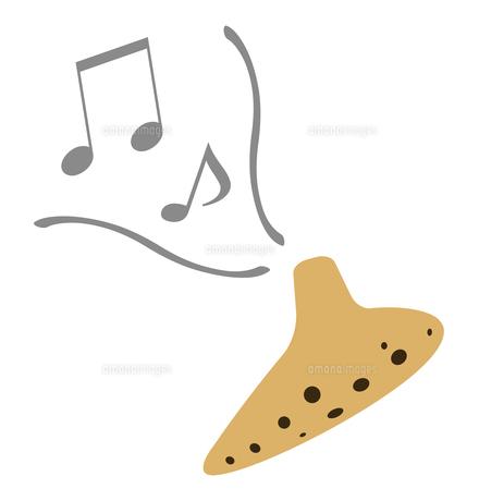 オカリナの演奏のイラスト素材 [FYI04741037]