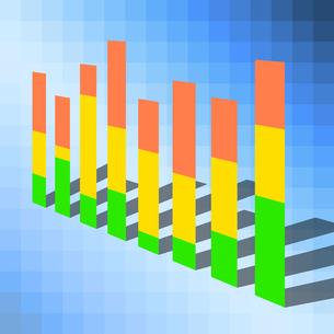立体的な棒グラフのイラスト素材 [FYI04741044]