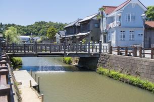 小江戸さわら 小野川とジャージャー橋の写真素材 [FYI04741209]