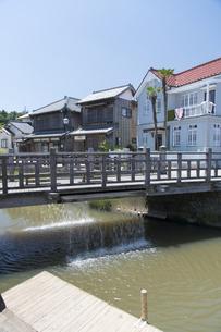 小野川のジャージャー橋の写真素材 [FYI04741349]