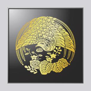 鳳凰に変わり桐のイラスト素材 [FYI04741593]