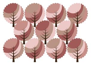 桜の木の森 イラストのイラスト素材 [FYI04741697]