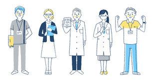 福祉・医療従事者の人々 全身のイラスト素材 [FYI04741768]