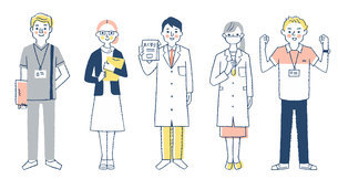 福祉・医療従事者の人々 全身のイラスト素材 [FYI04741769]