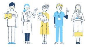 医療従事者の人々 全身のイラスト素材 [FYI04741770]