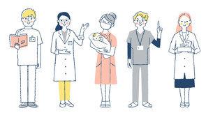 医療従事者の人々 全身のイラスト素材 [FYI04741771]