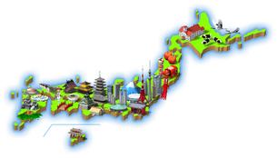 日本観光名所1のイラスト素材 [FYI04741794]