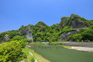 新緑の耶馬溪の写真素材 [FYI04741852]