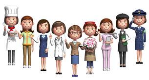 仕事集合女性1のイラスト素材 [FYI04741872]