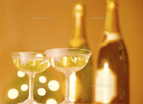 シャンパンボトルとグラスの写真素材 [FYI04741952]