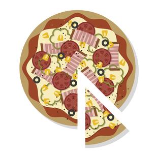 ピザをカットする イラストのイラスト素材 [FYI04741965]
