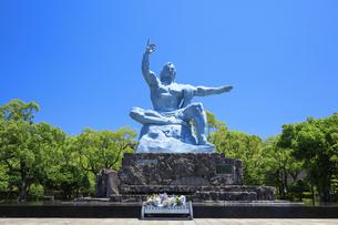 平和祈念像 長崎市の写真素材 [FYI04742041]