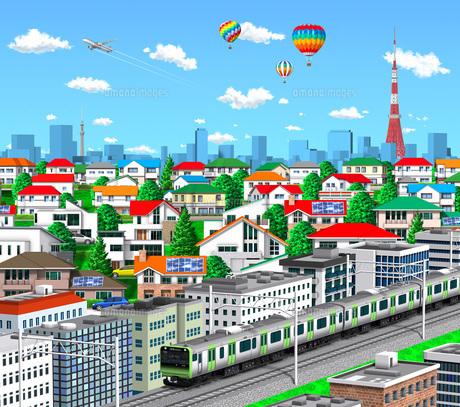 町並み 山手線 東京のイラスト素材 [FYI04742089]