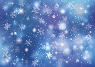 冬の夜空 きらめく雪の背景のイラスト素材 [FYI04742107]
