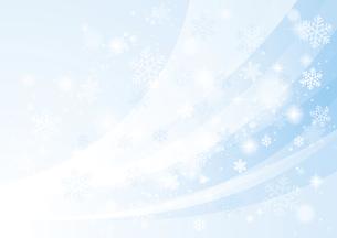 風と雪 冬の背景のイラスト素材 [FYI04742114]