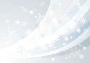 風と雪 冬の背景のイラスト素材 [FYI04742115]