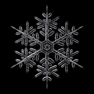雪の結晶のイラスト素材 [FYI04742161]