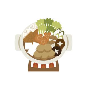 ちゃんこ鍋 イラストのイラスト素材 [FYI04742168]