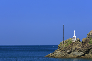 海上マリア像の写真素材 [FYI04742488]