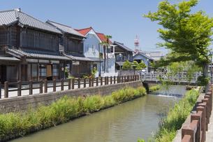 小江戸さわら 小野川とジャージャー橋の写真素材 [FYI04742687]