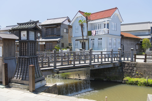 小江戸さわら 小野川とジャージャー橋の写真素材 [FYI04742751]