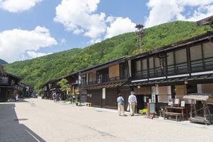 中山道 奈良井宿 の写真素材 [FYI04742855]