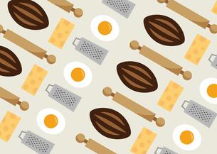 パンと目玉焼きとチーズのパターン イラストのイラスト素材 [FYI04743121]
