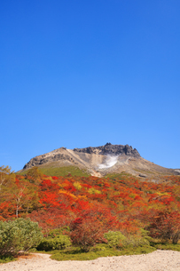 紅葉の姥ヶ平より望む那須岳の写真素材 [FYI04743123]