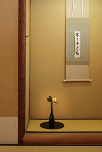 茶室の床の間の写真素材 [FYI04743174]