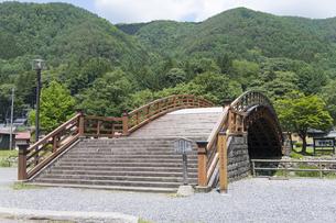 中山道 奈良井宿 木曽の大橋の写真素材 [FYI04743332]