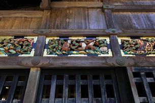 日光東照宮 神厩舎・三猿の彫刻の写真素材 [FYI04743351]