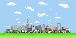都市と住宅直交 青空 雲2のイラスト素材 [FYI04743859]