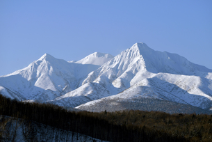 冬の斜里岳(北海道・斜里町)の写真素材 [FYI04744095]