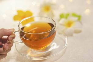 家でお茶を飲む様子。おうち時間、休憩時間。の写真素材 [FYI04744104]