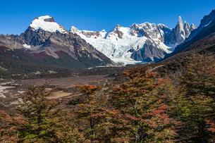 パタゴニアの秋:名峰セロトーレとトーレ谷の写真素材 [FYI04744216]