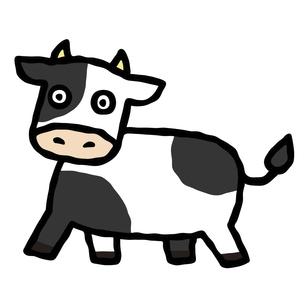 コミカルな牛のイラストのイラスト素材 [FYI04744506]