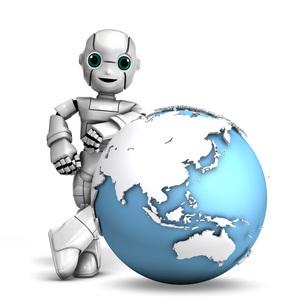 ロボット_地球‗アジアのイラスト素材 [FYI04745456]