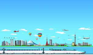 東京ランドマーク02新幹線のイラスト素材 [FYI04745805]