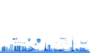 東京ランドマーク02ブルーのイラスト素材 [FYI04745811]