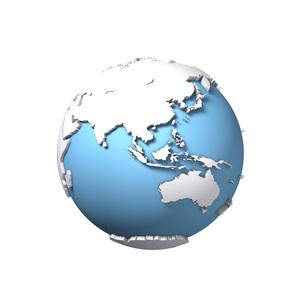 地球 cg 白青 アジアのイラスト素材 [FYI04745819]