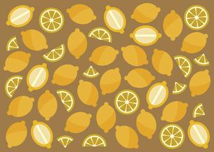 たくさんのレモン パターン イラストのイラスト素材 [FYI04745912]