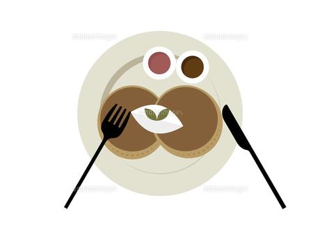パンケーキ おやつ プレート イラストのイラスト素材 [FYI04746035]