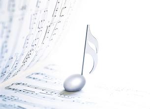 楽譜と音符記号の写真素材 [FYI04746084]